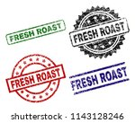 fresh roast seal prints with... | Shutterstock .eps vector #1143128246