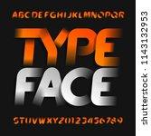 abstract alphabet typeface.... | Shutterstock .eps vector #1143132953