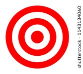 simple circle target template.... | Shutterstock .eps vector #1143134060