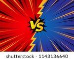 versus background template with ... | Shutterstock .eps vector #1143136640