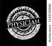 physician chalkboard emblem | Shutterstock .eps vector #1143150686