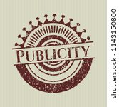 red publicity distressed with... | Shutterstock .eps vector #1143150800