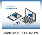 responsive web design concept.... | Shutterstock .eps vector #1143151196