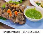 vietnam style sliced boiled row ... | Shutterstock . vector #1143152366