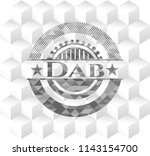 dab grey badge with geometric... | Shutterstock .eps vector #1143154700