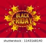 black friday  beautiful...   Shutterstock .eps vector #1143168140
