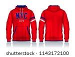 hoodie shirts template.jacket...   Shutterstock .eps vector #1143172100