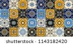 talavera pattern.  indian... | Shutterstock .eps vector #1143182420