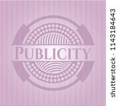 publicity retro style pink... | Shutterstock .eps vector #1143184643