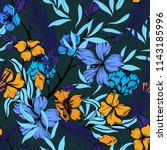 elegance pattern with flowers... | Shutterstock .eps vector #1143185996