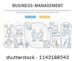 line banner of business... | Shutterstock .eps vector #1143188543