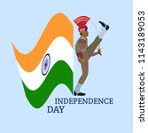 happy independence day of india ... | Shutterstock .eps vector #1143189053