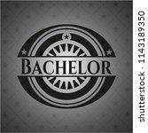 bachelor dark badge   Shutterstock .eps vector #1143189350