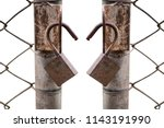 close up of an old lock and a... | Shutterstock . vector #1143191990