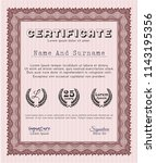 red certificate template or... | Shutterstock .eps vector #1143195356