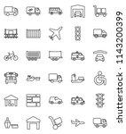 thin line vector icon set  ... | Shutterstock .eps vector #1143200399