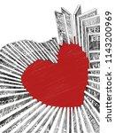 domino effect with heart   Shutterstock . vector #1143200969