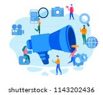 concept outbound marketing for... | Shutterstock .eps vector #1143202436