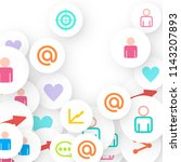 social media marketing ... | Shutterstock .eps vector #1143207893