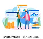 human resources  recruitment... | Shutterstock .eps vector #1143210803