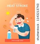 how to prevent heat stroke | Shutterstock .eps vector #1143213743