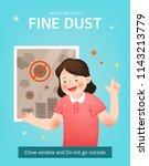 health care from fine dust | Shutterstock .eps vector #1143213779