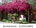fresh flowers outside of a... | Shutterstock . vector #1143216806