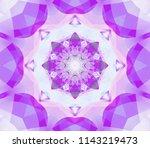seamless kaleidoscope violet... | Shutterstock . vector #1143219473