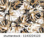 leafs vintage effect and small... | Shutterstock . vector #1143224123