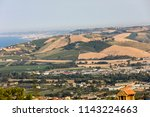 panoramic view of olive groves... | Shutterstock . vector #1143224663