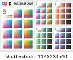 cmyk press color chart. cmyk... | Shutterstock .eps vector #1143233540