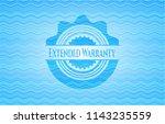 extended warranty water wave... | Shutterstock .eps vector #1143235559