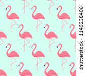 flamingo bird background  ... | Shutterstock .eps vector #1143238406