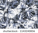leafs vintage effect and small... | Shutterstock . vector #1143240836