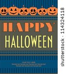 halloween card. vector... | Shutterstock .eps vector #114324118