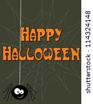 halloween card. vector... | Shutterstock .eps vector #114324148