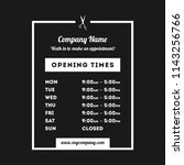 transparent vector opening time ... | Shutterstock .eps vector #1143256766