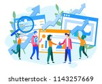concept performance evaluation... | Shutterstock .eps vector #1143257669