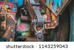 rusty steel joints  | Shutterstock . vector #1143259043