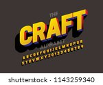 vector of modern bold font and... | Shutterstock .eps vector #1143259340