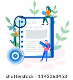 concept user manual for web... | Shutterstock .eps vector #1143263453