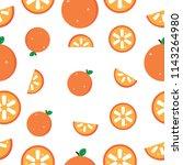 seamless pattern orange vector... | Shutterstock .eps vector #1143264980