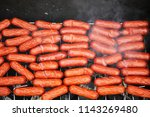 sausages of the small size are... | Shutterstock . vector #1143269480