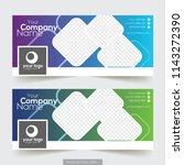corporate facebook timeline... | Shutterstock .eps vector #1143272390