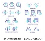 icons for the following... | Shutterstock . vector #1143273500