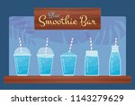 blue fresh fruit smoothies... | Shutterstock .eps vector #1143279629