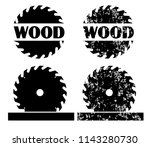 wood and saw circular wheel...   Shutterstock .eps vector #1143280730