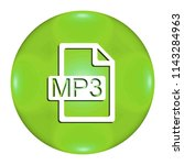 mp3 button isolated. 3d...   Shutterstock . vector #1143284963