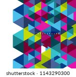 multicolored triangles abstract ... | Shutterstock .eps vector #1143290300