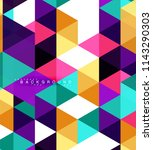 multicolored triangles abstract ... | Shutterstock .eps vector #1143290303